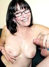 Horny milf sucked big cock of a young guy