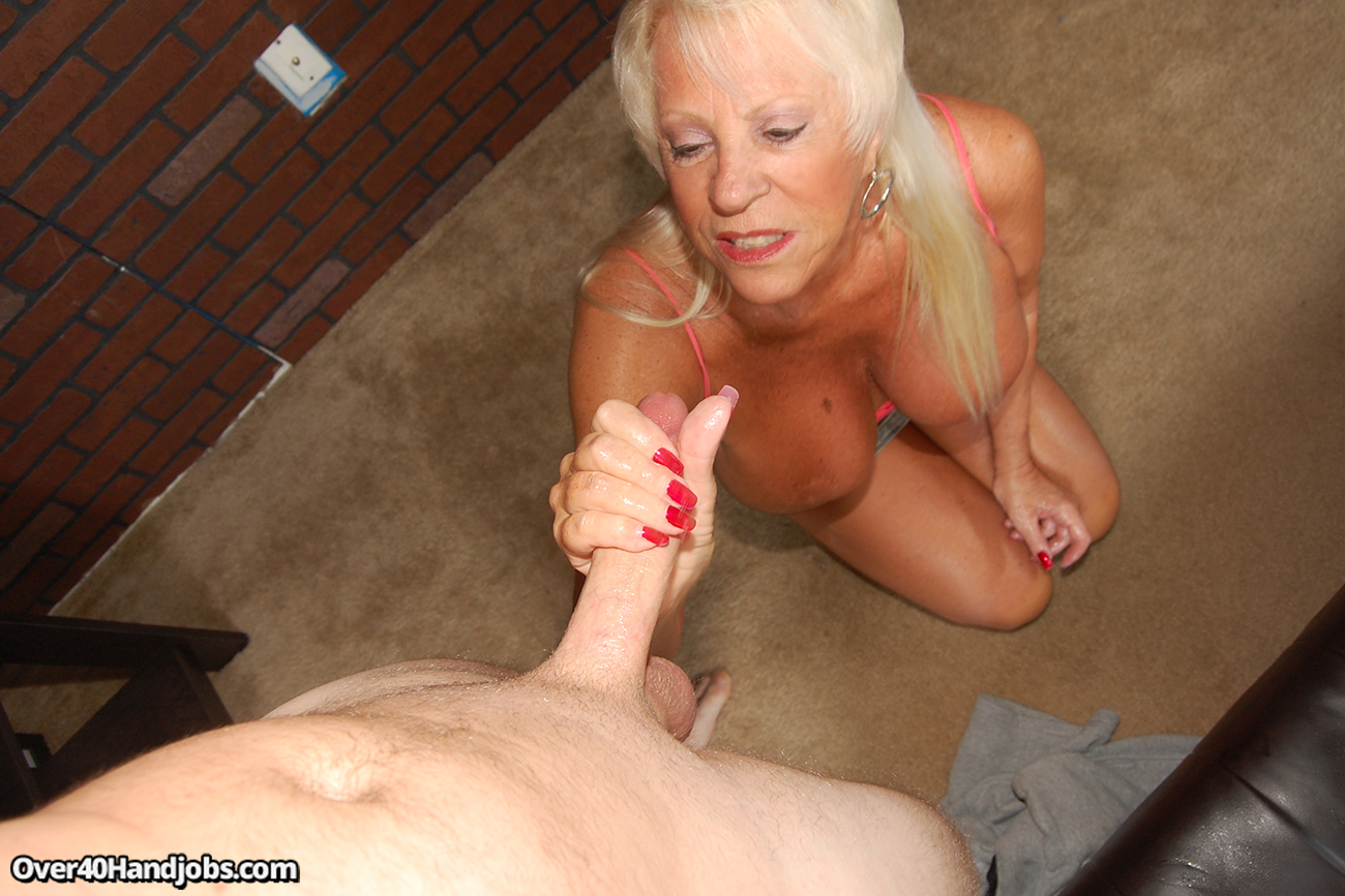 Handjob by mature
