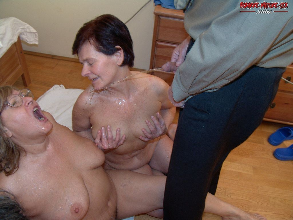 Lovers old granny piss
