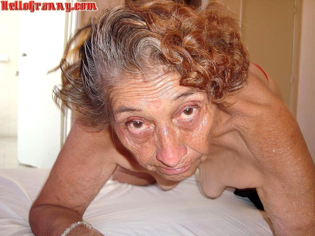 Granny sucking in bed old man
