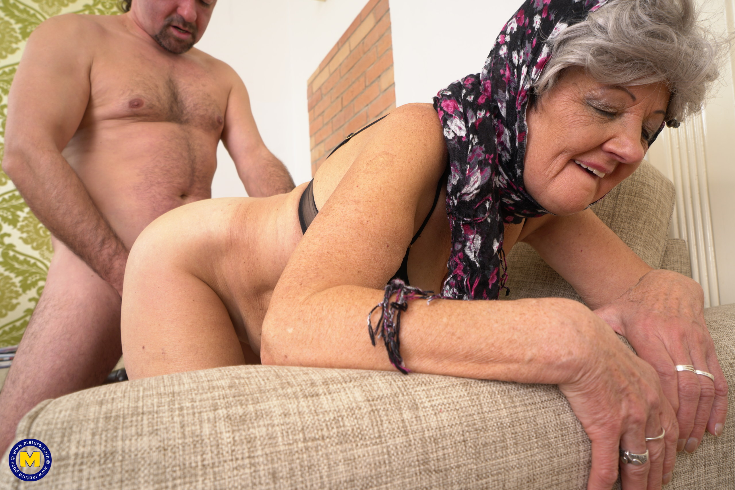Horny grandma fucking