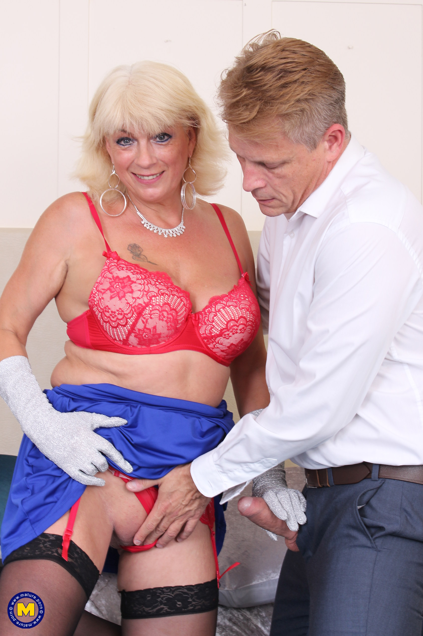 Slutty blonde mature