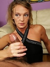 Step mom Leena is concerned with Billy low sperm count at his young age. She takes him to visit Dr Carey Riley who examines the young lad by jerking a