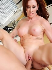 Anilos Mischall Gold gets her mature pussy defeated so gets banged by a stiff cock